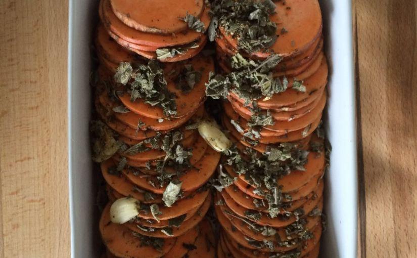 Süßkartoffel-Auflauf mit Salbei